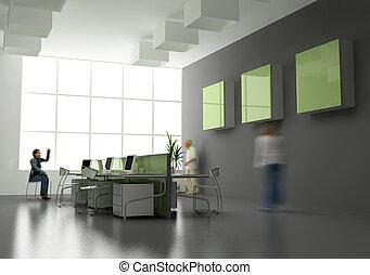 the modern office interior