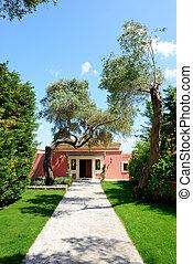 The modern villa at luxury hotel, Corfu, Greece