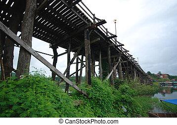 Mon bridge beautiful in Kanchanaburi