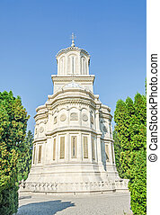 """The monastery """"Curtea de Arges"""" from Romania, orthodox church, outdoor"""