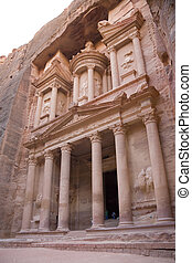 The Monastery El Deir in Petra, Jordan