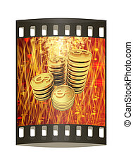 The money for the holiday. The film strip