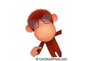 The monkey wearing spectacles reads - The primacy shows the...