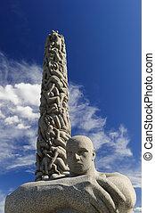 The Monolith, Vigeland Sculpture Arrangement, Frogner Park, Oslo, Norway