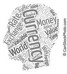 The Monster Traffic Way Of Currency Exchange text background wordcloud concept