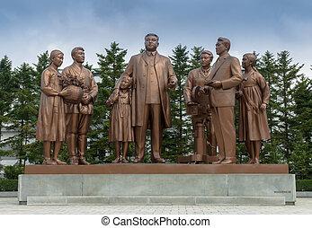 The monument at Pyongyang film studios - The Pyongyang film...