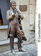 The monument of Leopold von Sacher-Masoch in Lviv - Leopold ...