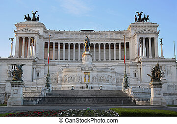 The Monument of Victor Emmanuel II, Venezia Square, in Rome, It