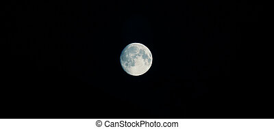 the moon in the sky