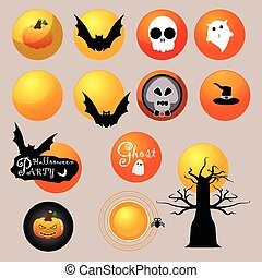 The moon of Halloween vector