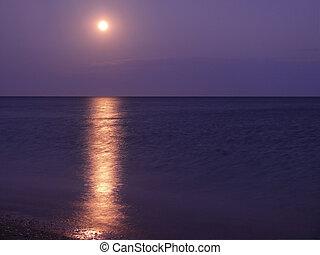 The Moon on ocean.