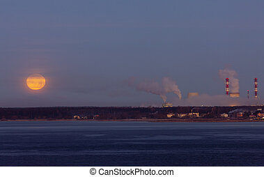 moon over gulf