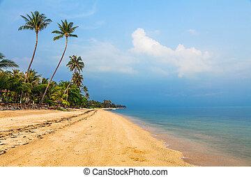The morning on Bang Po Beach. Koh Samui in Thailand