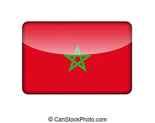 The Moroccan flag in the form of a glossy icon.