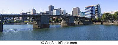 The Morrison bridge Portland OR.