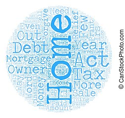 The Mortgage Forgiveness Debt Relief Act of 2007 what you need to know text background wordcloud concept