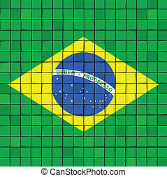 The mosaic flag of brazil