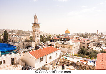 The mosque and Dome of the Rock, Jerusalem, Israel