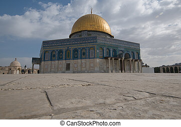 the Mosque of Omar also known as the Dome of the Rock in Jerusalem