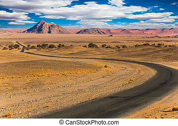 The famous giant sand dunes