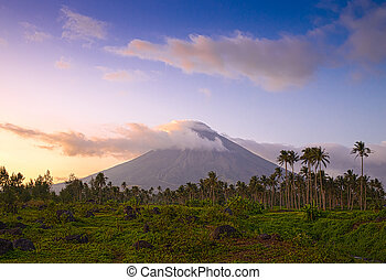 Vulcano Mount Mayon in the Philippines
