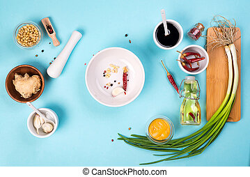 The most famous Korean traditional food Kimchi ingredients.
