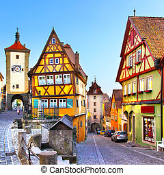 Rothenburg ob der Tauber - The most famous street in...