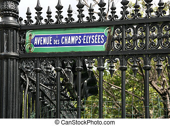 The most famous street in the world - Avenue des Champs Elysees in Paris, France
