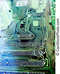 The motherboard background.