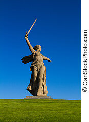 The Motherland Calls - Stock Image - Central figure of the ...