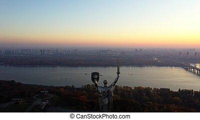The Motherland Monument in Kiev, the capital of Ukraine. ...