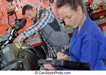 the motorbike garage