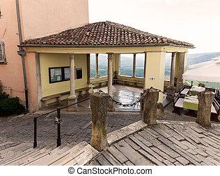 The Motovun Loggia - View of the Motovun Loggia, Istria....