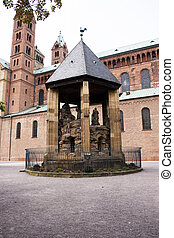 The Mount of Olives of Speyer cathedral at Speyer town in...