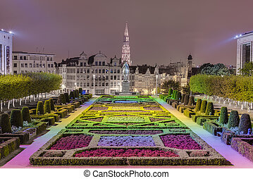 The Mount of the Arts in Brussels, Belgium. - The Kunstberg...