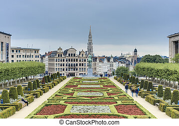 The Mount of the Arts in Brussels, Belgium. - BRUSSELS,...