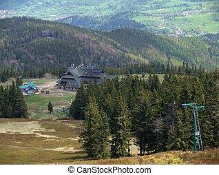The mountain hotel on Pilsko in Poland