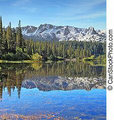 The mountain lake