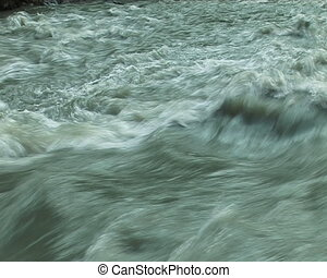 The Mountain river. - Mountain torrent.