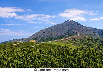 the mountain Sniezka in Giant Mountains