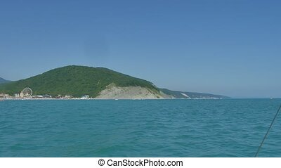 The mountains and sea scenery with blue sky, Islands
