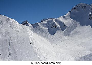 The mountains in Krasnaya Polyana, Russia