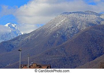 The mountains in Krasnaya Polyana, Sochi