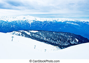 The mountains in Sochi, Russia