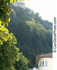 The mountains in Vaduz