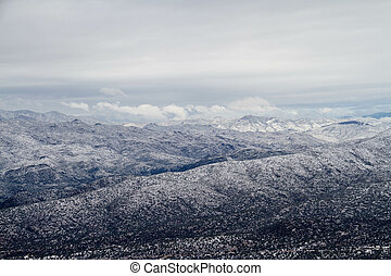 The mountains of Arizona in with Snow