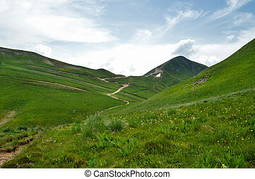 The mountains of Sancy in the center of France.