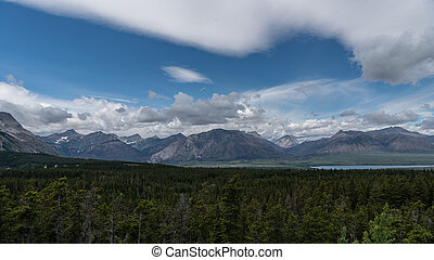 The Mountains of Waterton National Park in Alberta Canada