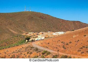 The mountains over Sidi Ifni, Morocco