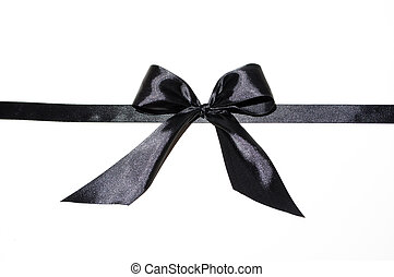 the mourning black tape is tied in the form of a bow
